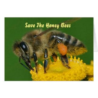 Retten Sie den Bienen Grün Karte