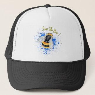 Retten Sie den Bienen Watercolor-Kunst Truckerkappe