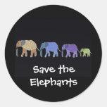 Retten Sie den Elefanten Aufkleber