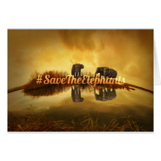 Retten Sie den Elefanten Entwurf Karte