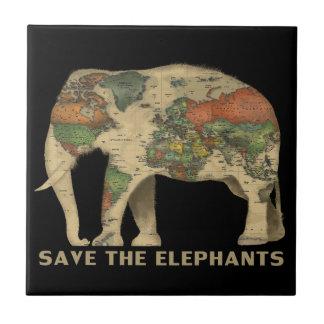 Retten Sie den Elefanten Keramik-Foto-Fliese Fliese