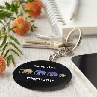 Retten Sie den Elefanten Keychain Schlüsselanhänger