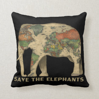 Retten Sie den Elefanten Throw-Kissen Kissen