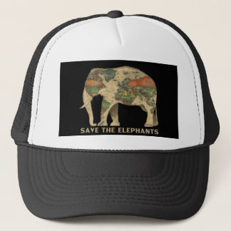 Retten Sie den Elefanthut Truckerkappe