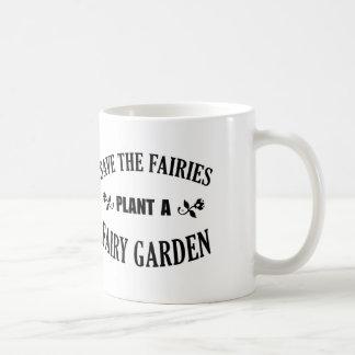 Retten Sie den Feen Pflanze ein feenhafter Garten, Kaffeetasse