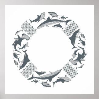 Retten Sie den Haifischen Lebensretter Poster