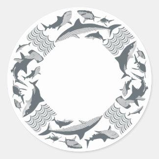 Retten Sie den Haifischen Lebensretter Runder Aufkleber