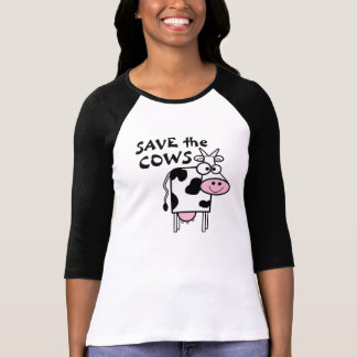 Retten Sie den Kühen Tierrechte Hemd