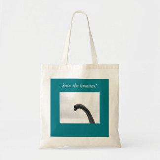 Retten Sie den Menschen Dinosaurier-Taschen-Tasche Tragetasche