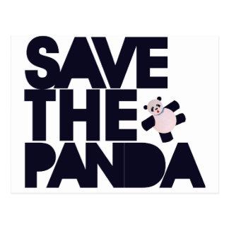 Retten Sie den Panda-Bären Postkarte