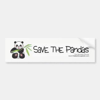 Retten Sie den Pandas Autoaufkleber
