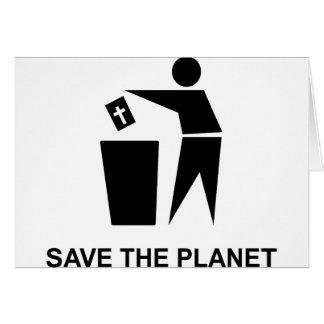 Retten Sie den Planeten - Bibel im Abfall Karte