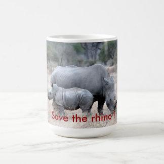 Retten Sie den Rhino! Kaffeetasse