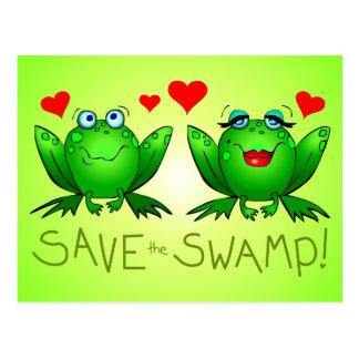 Retten Sie den Twitchy Sumpf und Beulah Grün Postkarte