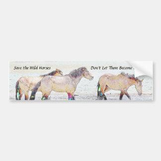 Retten Sie den wilden Pferden Autoaufkleber