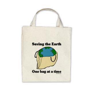 Retten Sie der Erde Bio Taschen-Tasche