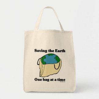 Retten Sie der Erde Bio Taschen-Tasche Einkaufstasche