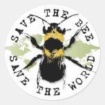 Retten Sie die Biene… retten die Welt! Aufkleber