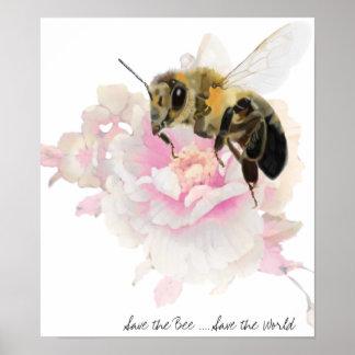 Retten Sie die Biene! Retten Sie die Welt! Hübsche Poster