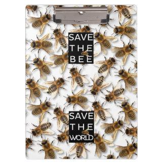 Retten Sie die Biene! Retten Sie die Welt! Klemmbrett