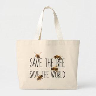 Retten Sie die Biene! Retten Sie die Welt! Leben Jumbo Stoffbeutel