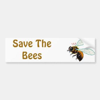 Retten Sie die Bienen Autoaufkleber