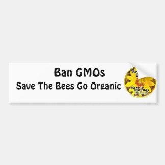 Retten Sie die Bienen gehen Bio Autoaufkleber