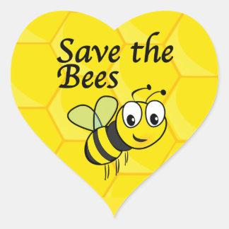 Retten Sie die Bienen Herz-Aufkleber