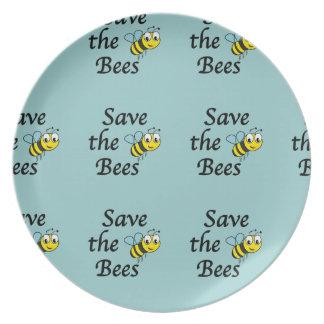 Retten Sie die Bienen Melaminteller