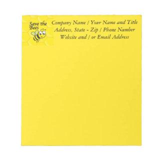 Retten Sie die Bienen Notizblock
