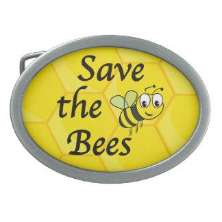Retten Sie die Bienen Ovale Gürtelschnallen
