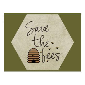 Retten Sie die Bienen Postkarte
