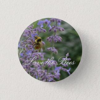 Retten Sie die Bienen… Russischer weiser Knopf Runder Button 2,5 Cm
