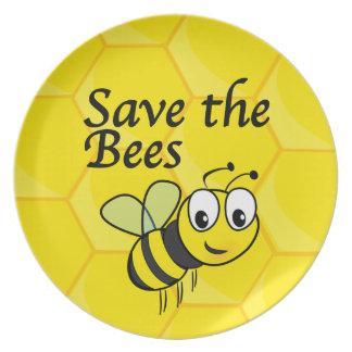 Retten Sie die Bienen Teller