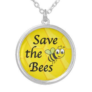 Retten Sie die Bienen Versilberte Kette