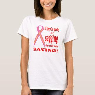 Retten Sie die Brust. Brustkrebs T-Shirt