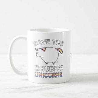 Retten Sie die Chubby Unicorns Kaffeetasse
