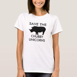 Retten Sie die chubby Unicorns T-Shirt