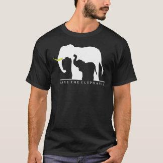 Retten Sie die Elefanten (Schwarzes) T-Shirt