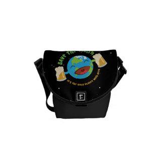 Retten Sie die Erde Kurier Taschen