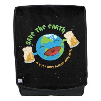 Retten Sie die Erde Rucksack