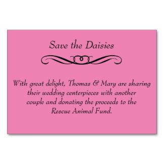 Retten Sie die Gänseblümchen - Hochzeits-Tabelle