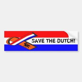 Retten Sie die Holländer! Autoaufkleber