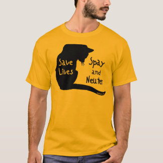 Retten Sie die Leben (Katze) T-Shirt
