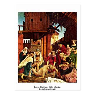 Retten Sie die Leiche von St. Sebastian Postkarte