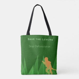 Retten Sie die Lemurs Tasche