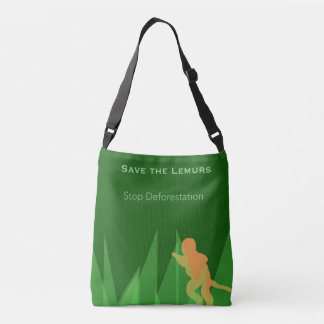 Retten Sie die Lemurs Tragetaschen Mit Langen Trägern