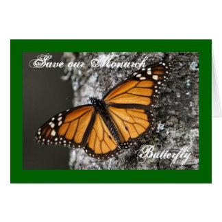 Retten Sie die Monarch-Schmetterlings-Gruß-Karte Karte
