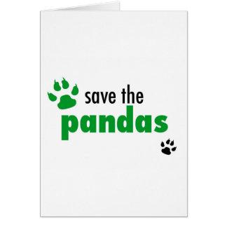 Retten Sie die Pandas Karte