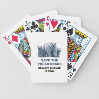 Retten Sie die polaren Bären Bicycle Spielkarten